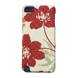 Floral Shadows in Red and Orange iPod Touch (5th Generation) Case