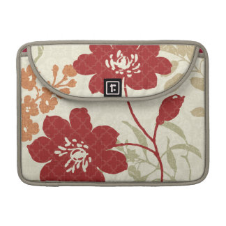 Floral Shadows in Red and Orange Sleeve For MacBook Pro