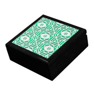 Floral Shokkoumon japanese pattern green Gift Box