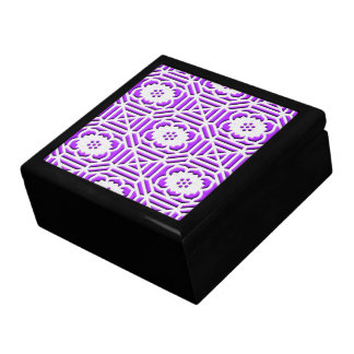 Floral Shokkoumon japanese pattern light purple Gift Box