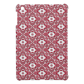 Floral Shokkoumon japanese pattern red Case For The iPad Mini