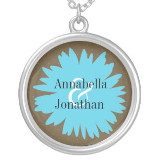 Floral Silhouette Names Necklace