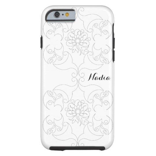 Floral Sketch. Tough iPhone 6 Case
