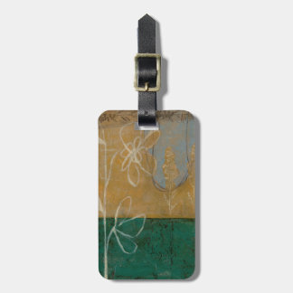 Floral Sketch with Wildflower and Plants Luggage Tag
