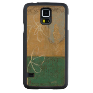 Floral Sketch with Wildflower and Plants Maple Galaxy S5 Case