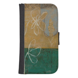 Floral Sketch with Wildflower and Plants Samsung S4 Wallet Case