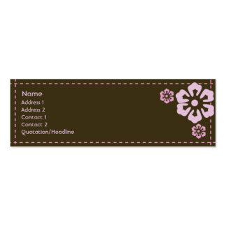 Floral - Skinny Double-Sided Mini Business Cards (Pack Of 20)