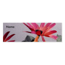 Floral Skinny Business Card Templates