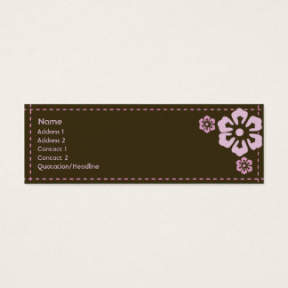 Floral - Skinny Mini Business Card