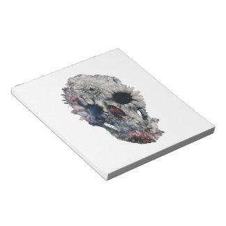 Floral Skull 2 Notepad