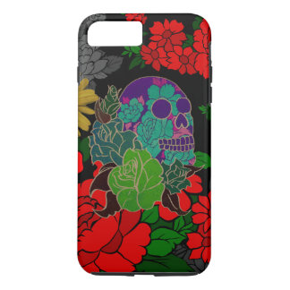 Floral Skull Abstract iPhone 7 Plus Case