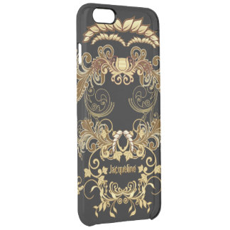 Floral Skull Clear iPhone 6 Plus Case