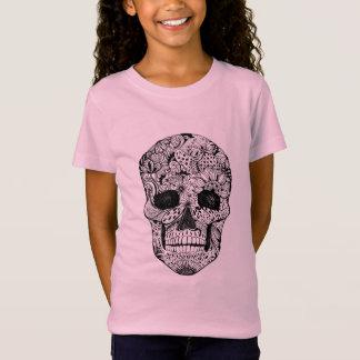 Floral Skull Doodle T-Shirt