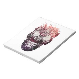 Floral Skull Notepad