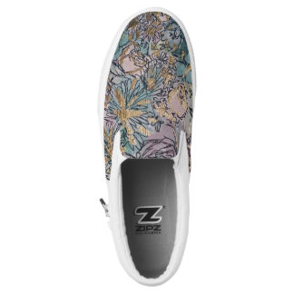 Floral Slip Ons Printed Shoes