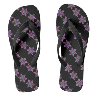 Floral Snow Flip Flops