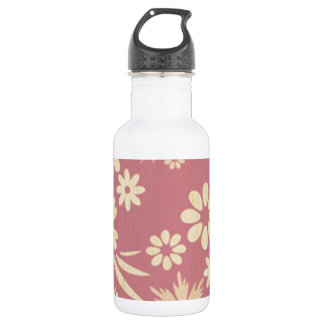 Floral, soft, girly, chic, pink, peach, trendy, 532 ml water bottle