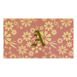 Floral, soft, girly, chic, pink, peach, trendy business card