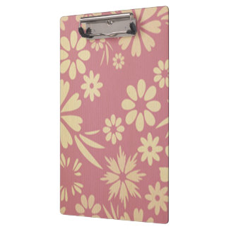 Floral, soft, girly, chic, pink, peach, trendy clipboards