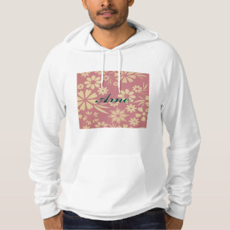Floral, soft, girly, chic, pink, peach, trendy hooded sweatshirt