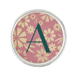 Floral, soft, girly, chic, pink, peach, trendy lapel pin