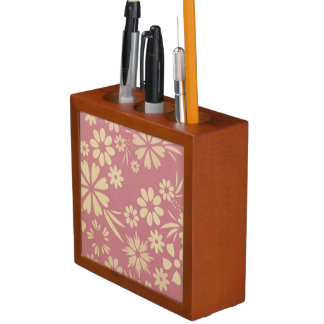 Floral, soft, girly, chic, pink, peach, trendy Pencil/Pen holder