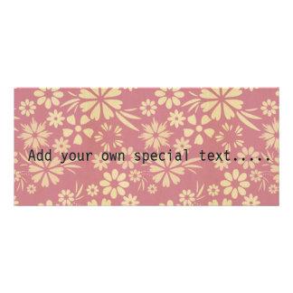 Floral, soft, girly, chic, pink, peach, trendy custom rack card