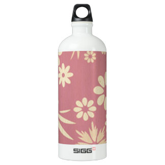 Floral, soft, girly, chic, pink, peach, trendy, SIGG traveller 1.0L water bottle