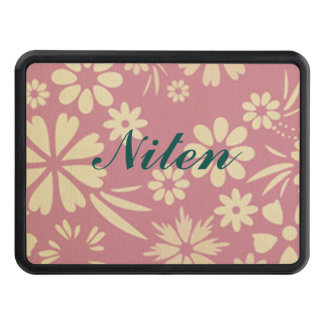 Floral, soft, girly, chic, pink, peach, trendy tow hitch covers