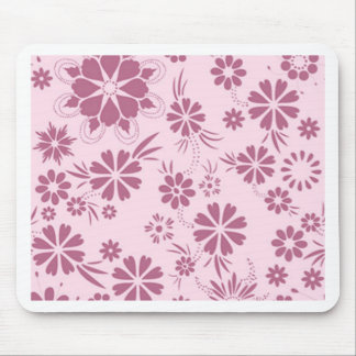 Floral, soft, girly, chic, pink, trendy, pattern, mouse pad
