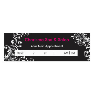 Floral Spa Salon Appointment Business Card