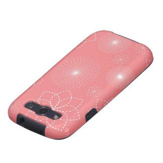 Floral Spiral Printed Samsung Galaxy S3 Case