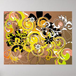 floral spirals poster