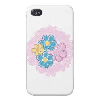 Floral Splash Cover For iPhone 4