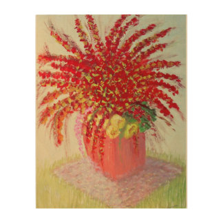 Floral Spray! Wood Wall Decor