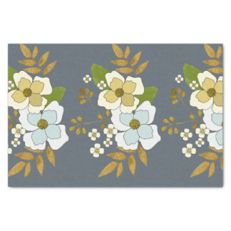 Floral spring blooming bouquet tissue paper