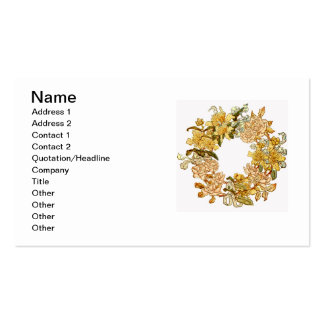 Floral Spring Flower Wreath Vintage Watercolor Pack Of Standard Business Cards