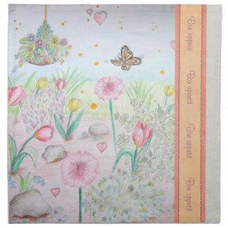 Floral Spring Garden Napkin
