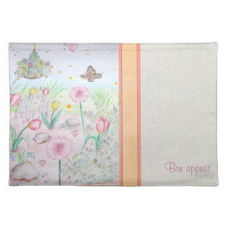 Floral Spring Garden Placemat