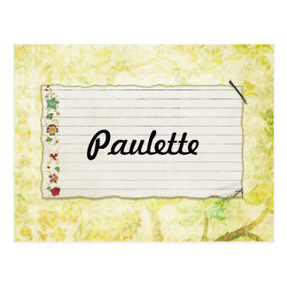 Floral Stapled Note Paper Bright Background Postcard