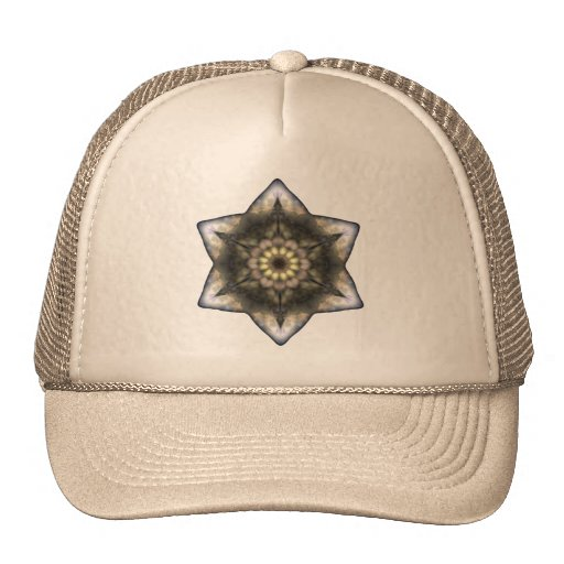 Floral Star of David Trucker Hats