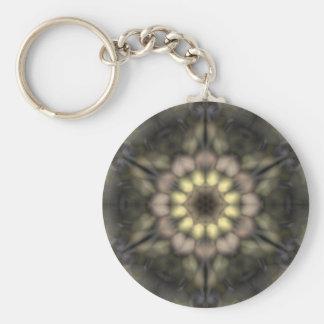 Floral Star of David Key Ring
