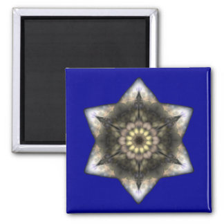 Floral Star of David Refrigerator Magnets