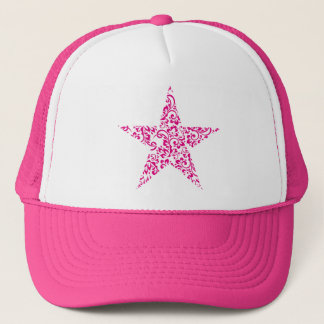 floral star trucker hat