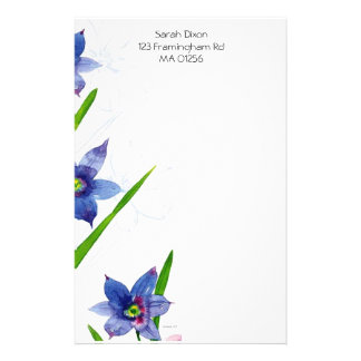 Floral Stationary Customized Stationery