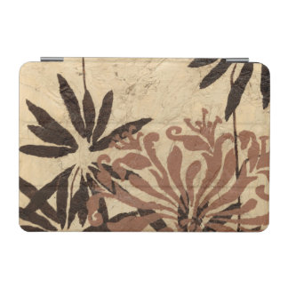Floral Stencil Design with Tawny Leaves iPad Mini Cover