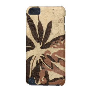 Floral Stencil Design with Tawny Leaves iPod Touch 5G Covers