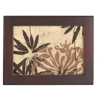 Floral Stencil Design with Tawny Leaves Memory Boxes