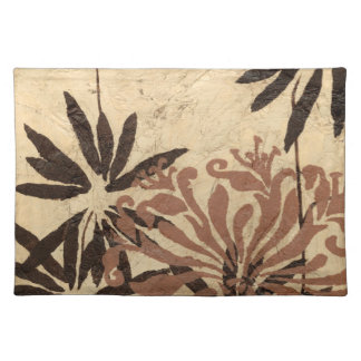 Floral Stencil Design with Tawny Leaves Placemat