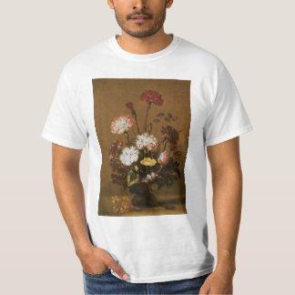 Floral Still Life Flowers in Vase, Vintage Baroque T-shirt